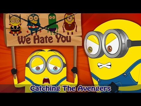 Minions Banana The Avengers Are Arrested Full Movie Minions Superhero Kids Funny Cartoon Youtube Cartoons Youtube Superhero Kids Minions