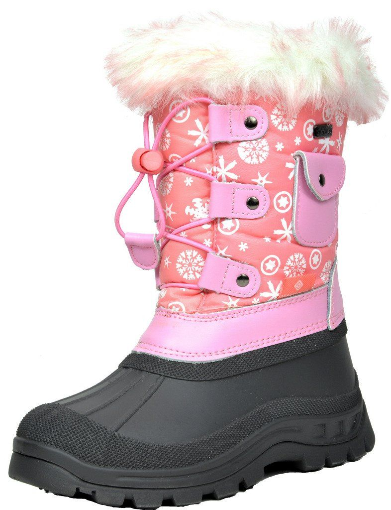 Amoji Boy Outdoor Winter Boots Girl Snow Shoes Waterproof for Little Kids//Big Kids
