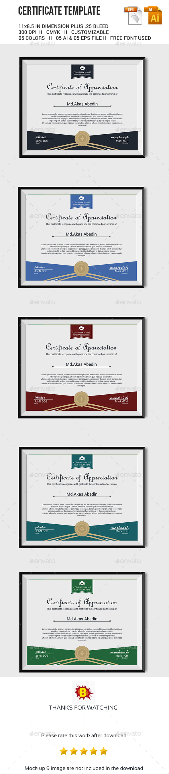 Certificate Template Vector Eps Ai Download Here Http