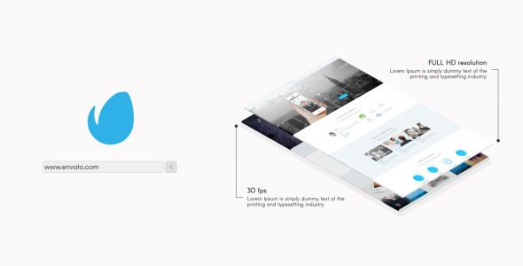 minimal website presentation 2 template