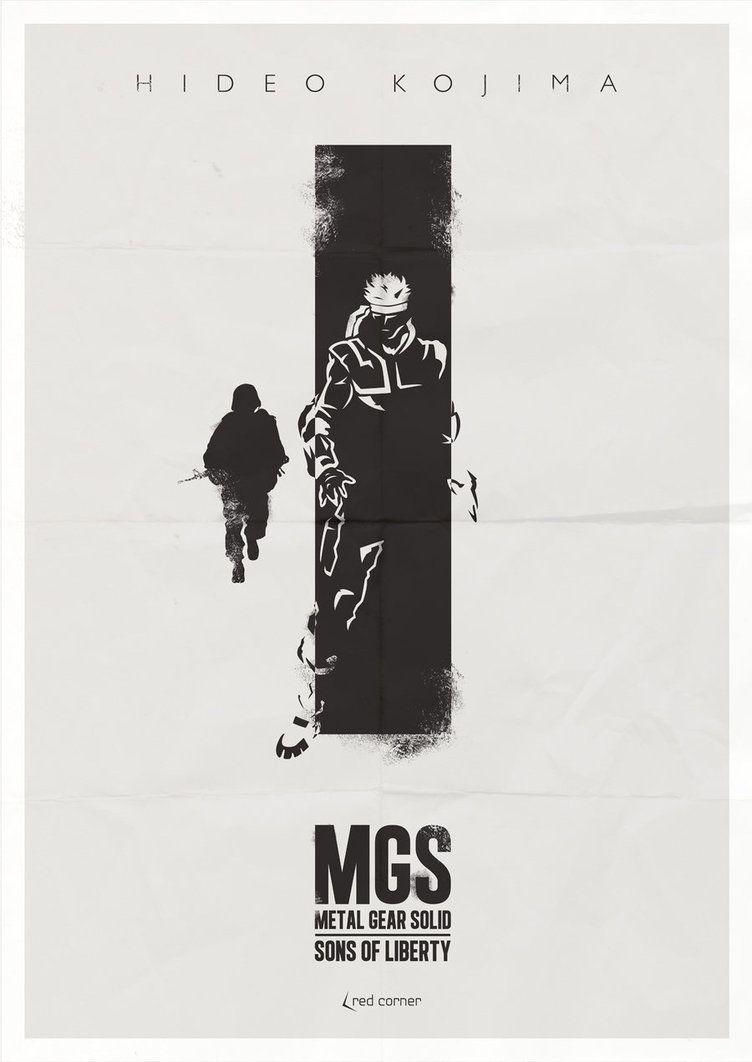 minimalist posters mgs metal gear