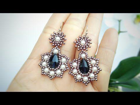 Photo of Raindrop Earrings 💞 | How to make beaded earrings | Beading tutorial | Jewelry making