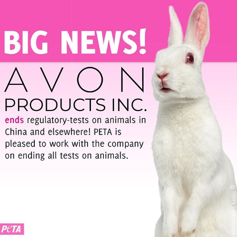 Avon Ends Regulatory Tests On Animals