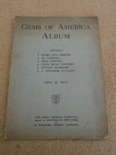 Vintage Sheet Music Gems of America Album #vintagesheetmusic