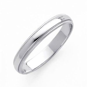 Men S Cobalt Chrome Wedding Ring With Polished 4mm Cool