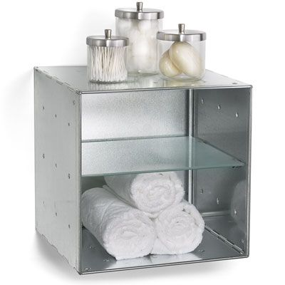 Galvanized Qbo Divided Steel Wall Cube In 2018 Bathroom