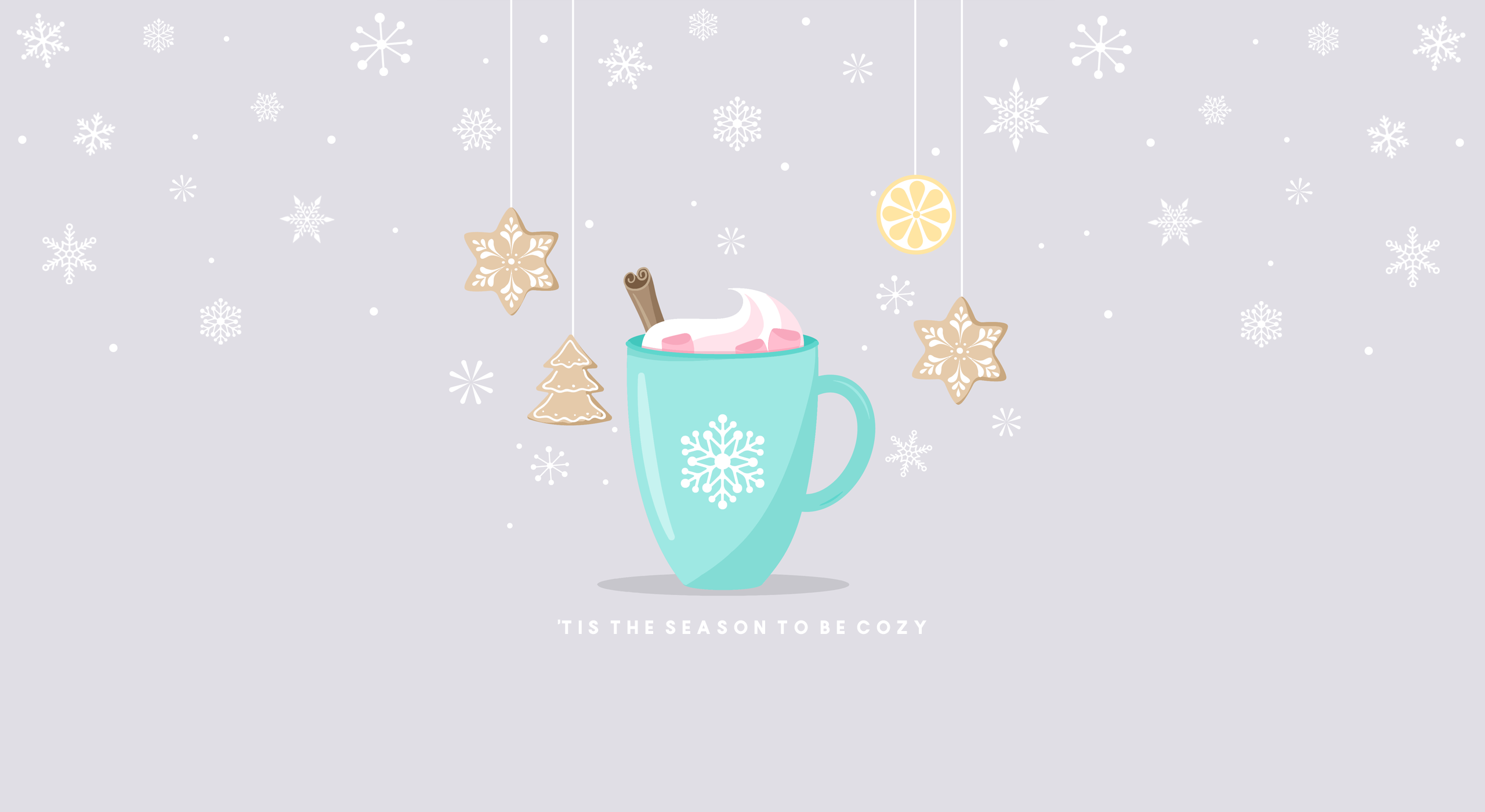 The Writing S On The Wall Tis The Season To Be Cozy Christmas Desktop Wallpaper Winter Wallpaper Desktop Cute Christmas Wallpaper