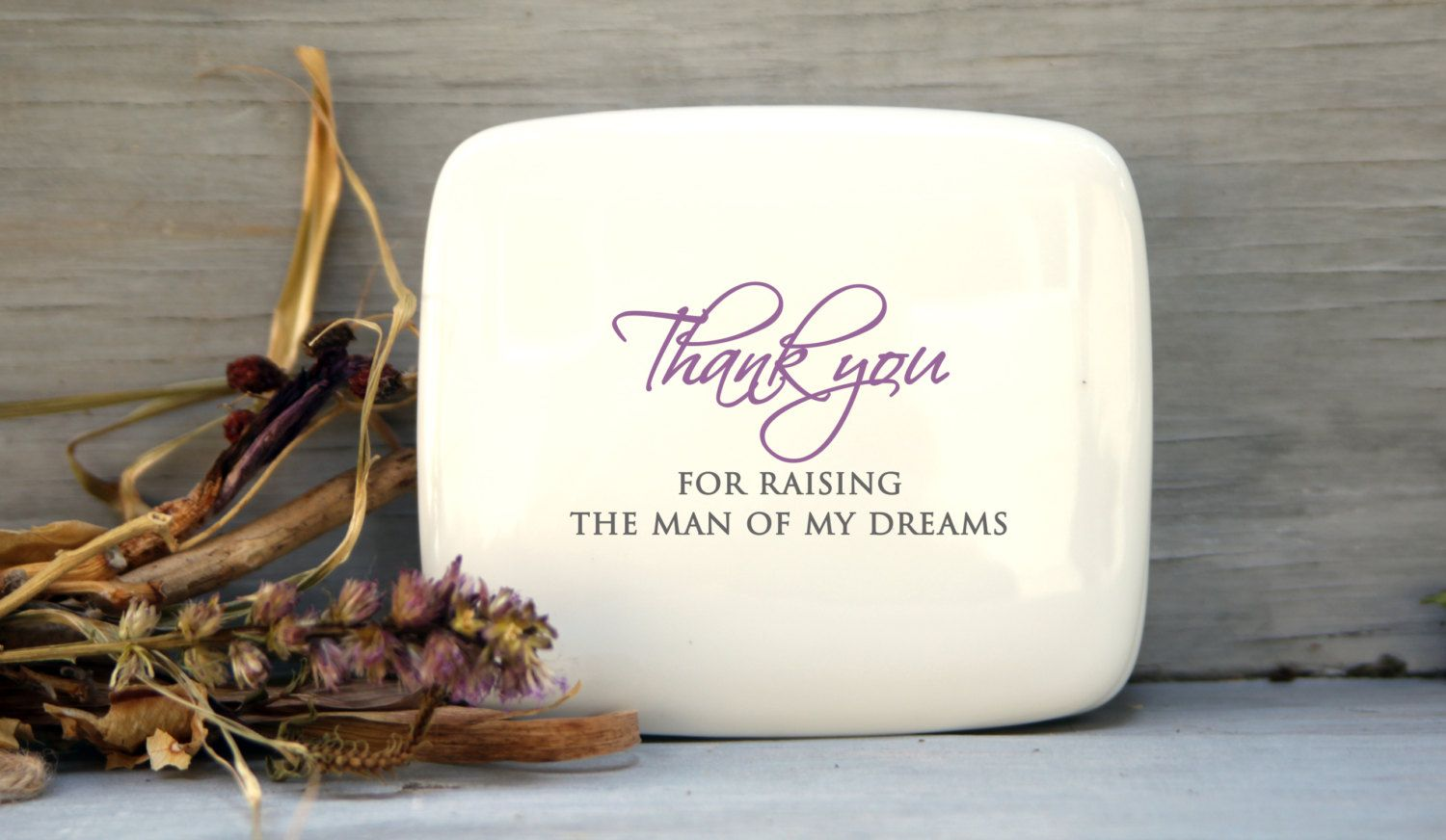 Thank you mom and dad wedding gift, Porcelain Keepsake Box: Jewelry ...