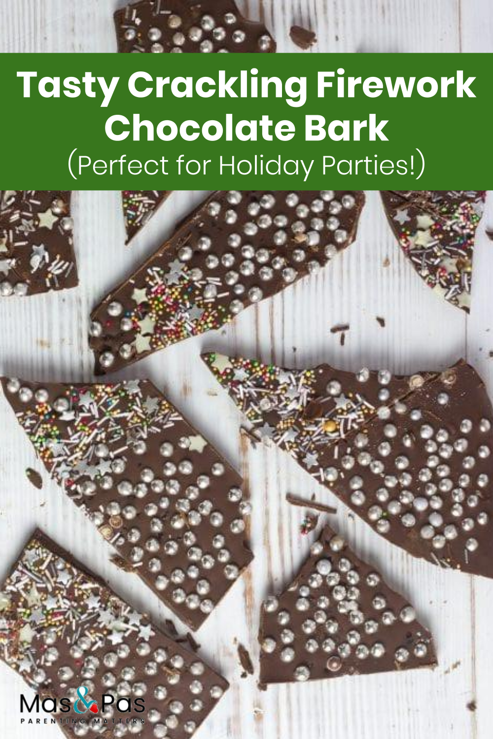 Crackling firework chocolate bark #bonfirenightfood
