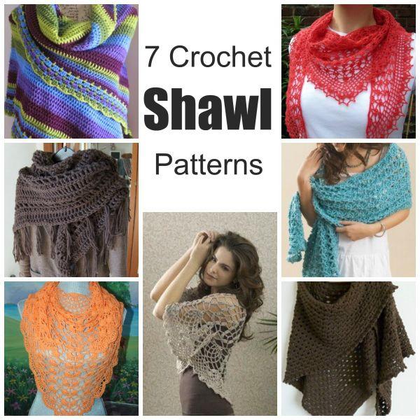 7 Crochet Shawl Patterns (Crochet   Chal, Ponchos y Capilla