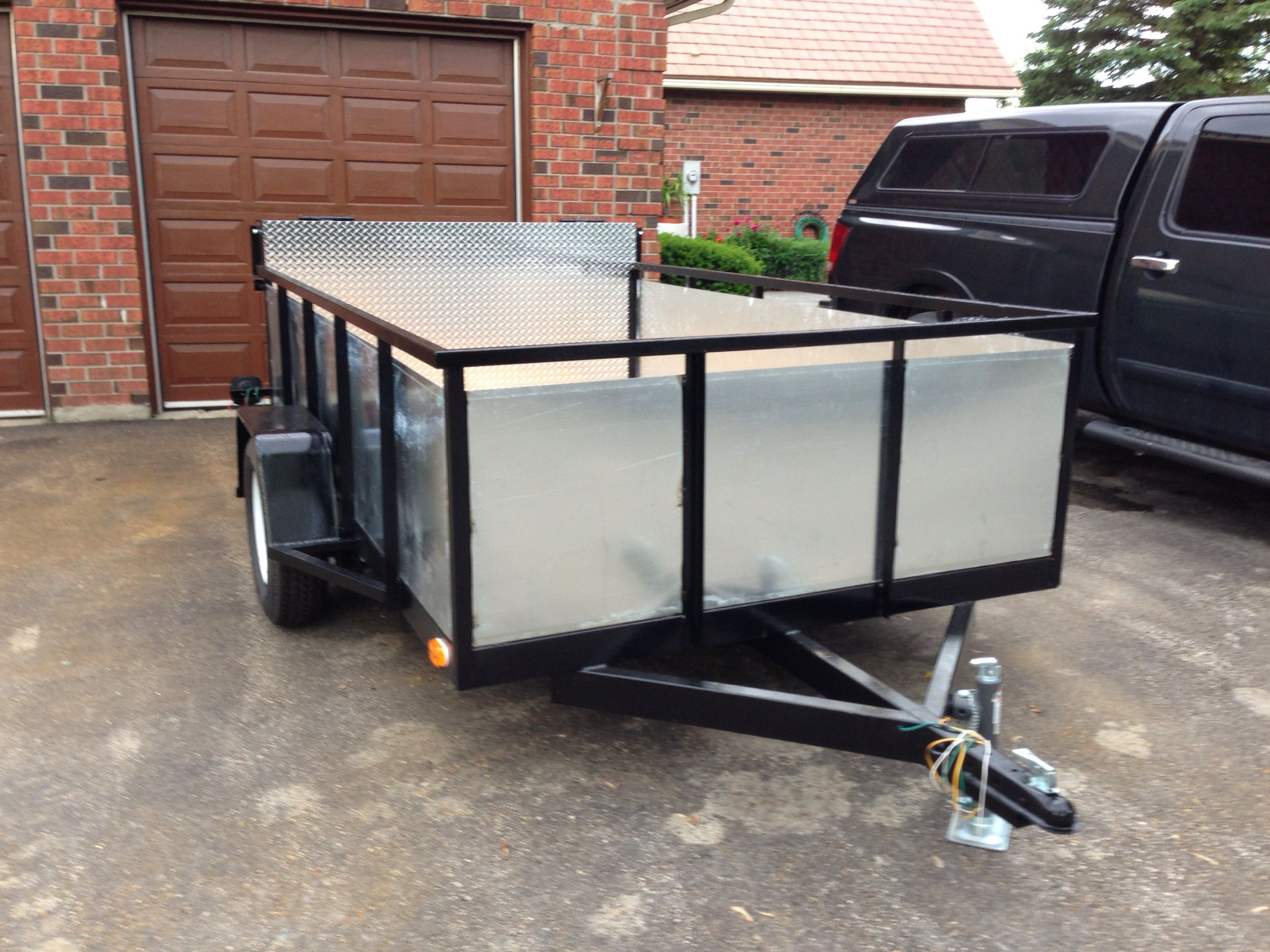 custom built welded steel utility trailer 6ft x 10ft bed with by rh pinterest com