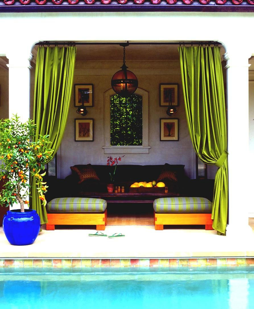 Pool Cabana Furniture | Pool Cabana Bed For Simple Modern Home ...