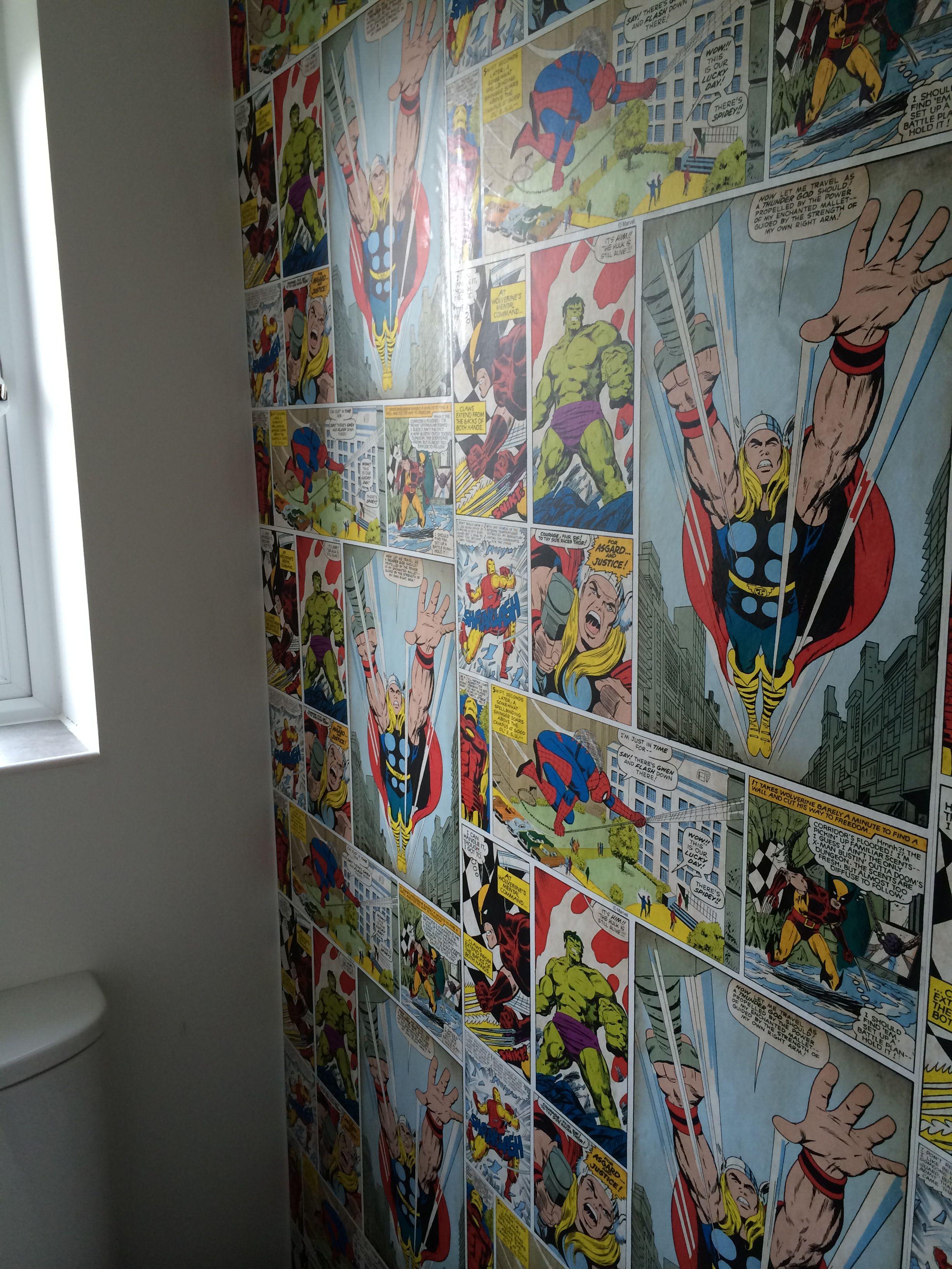 Marvel Wallpaper, From Wallpaper King £20 P/ Roll For