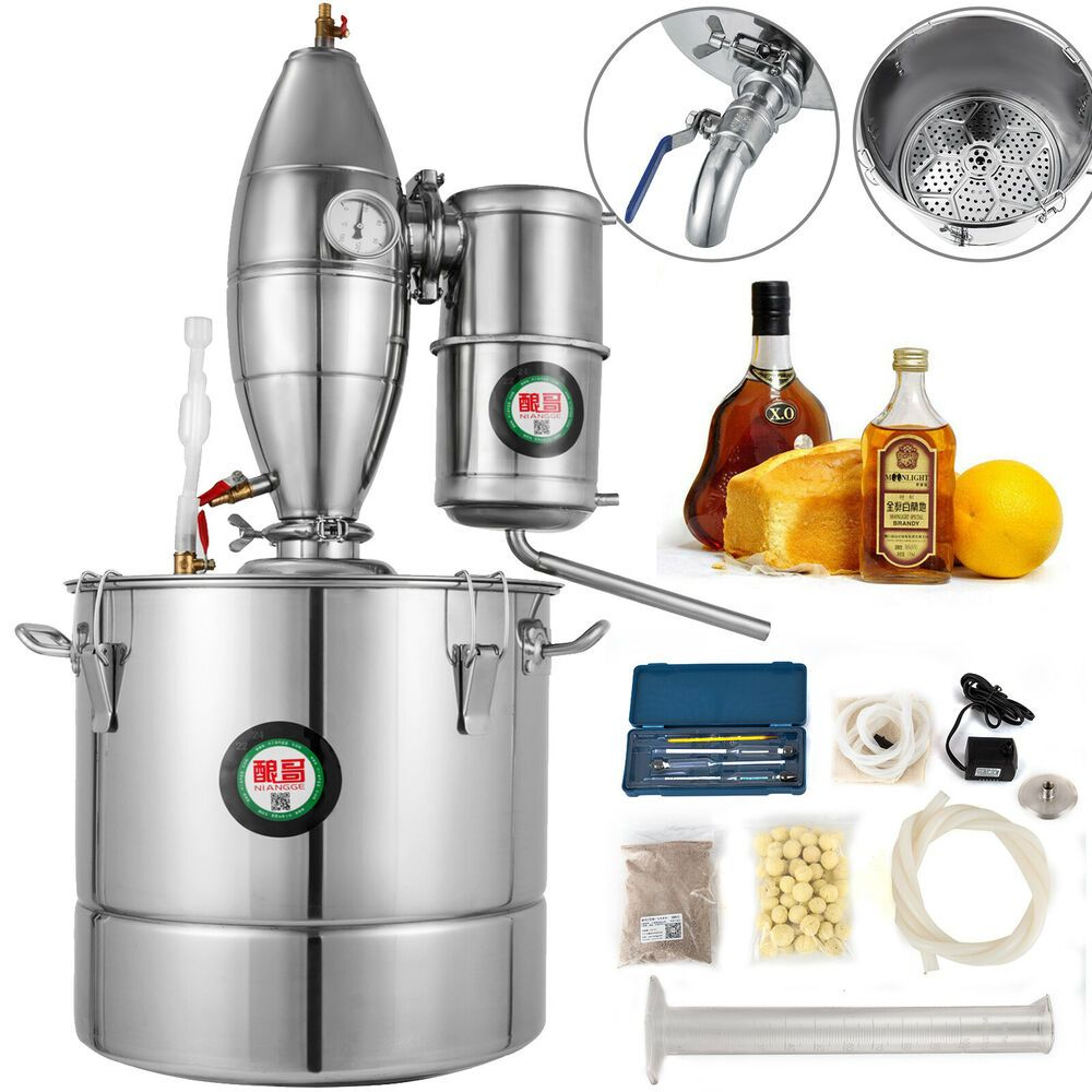 Ebay Sponsored 30l 8gal Wine Alcohol Distiller Moonshine Boiler Water Commercial Make Brew Kit Personalized Wine Glass Wine Making Kits Alcohol