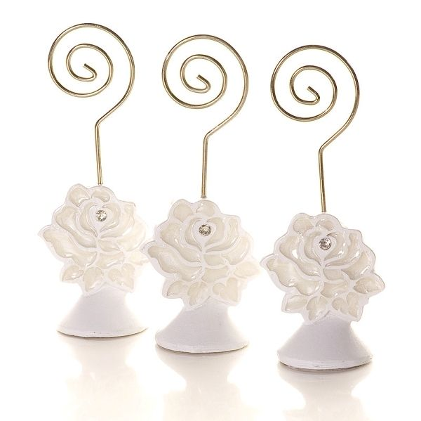 A Rose In Bloom Placecard Holder