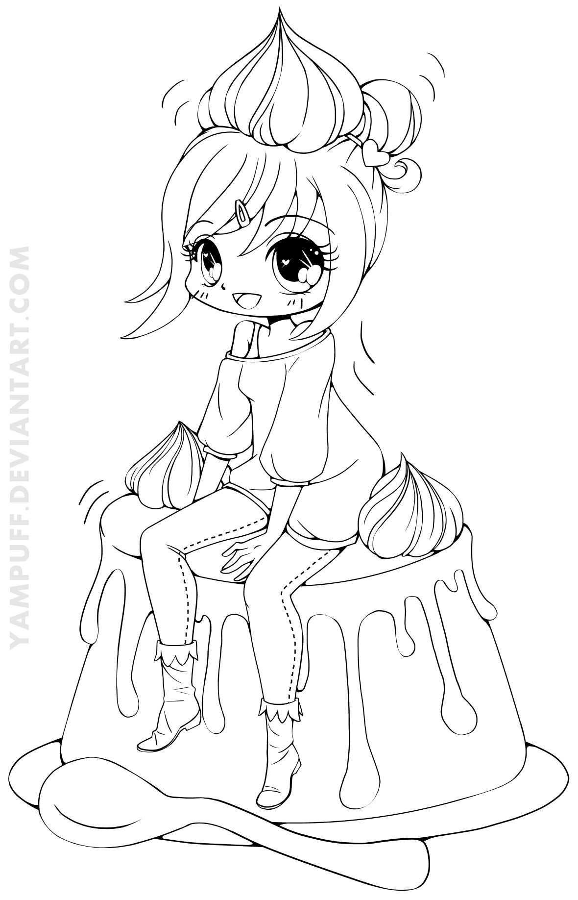 Pin by Angel on Color Pages Deviantart Chibi coloring