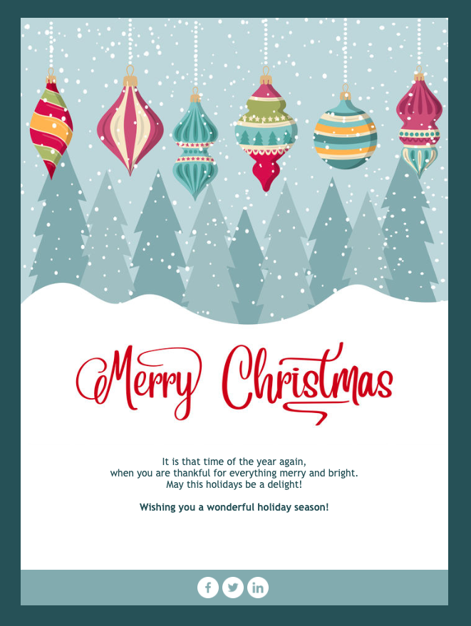 Christmas Card Email Template Email Christmas Cards Email Design Inspiration Email Template Design