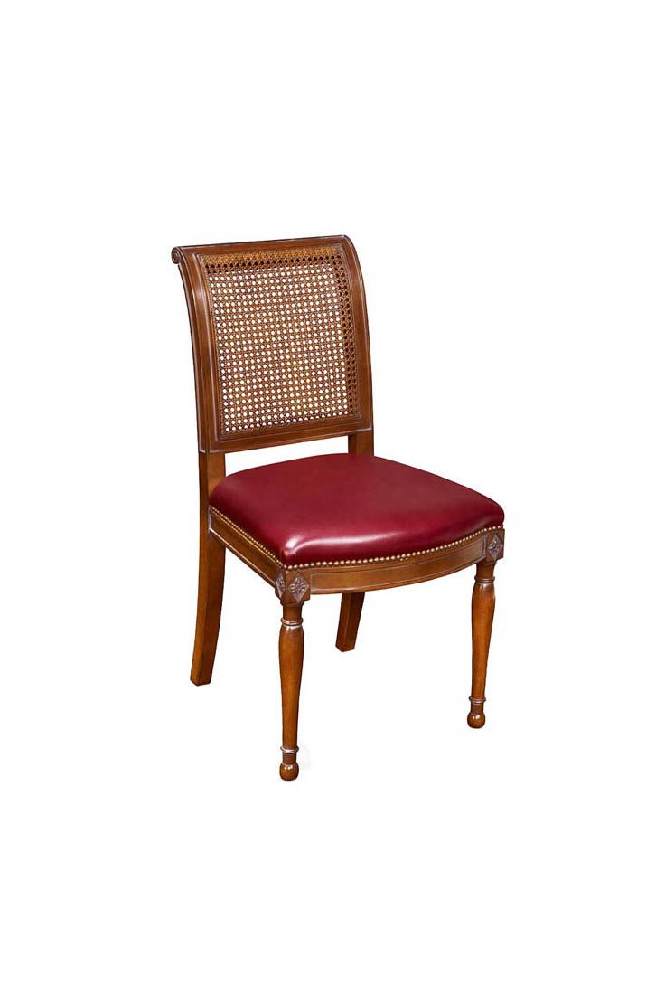 Stupendous The Caned Directoire Dining Chair Is Shown In Cherry Wood Pabps2019 Chair Design Images Pabps2019Com