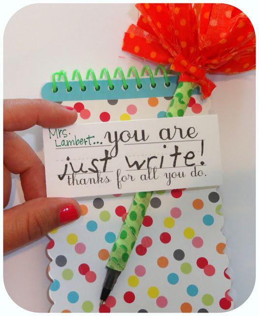 SewSara: just write teacher gifts