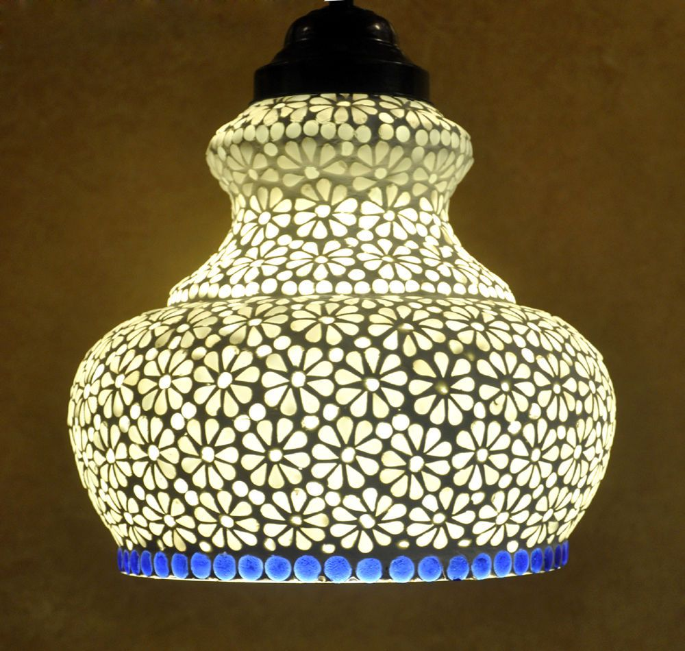 Jd Lighting Browns Plains Indian Home Decorative Mosaic Glass Jaipuri Ceiling Hanging Lamp