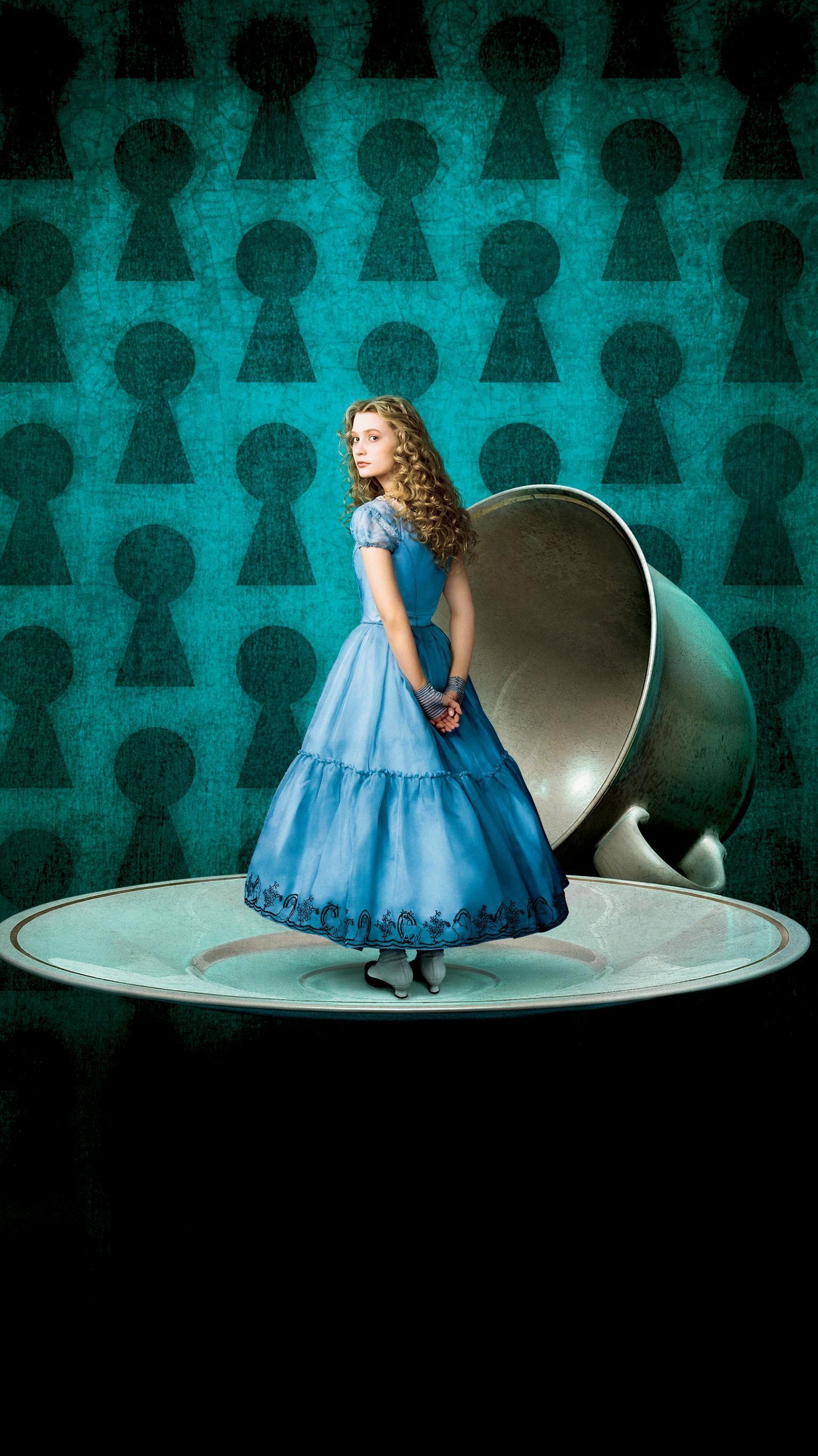 Alice in Wonderland (2010) Phone Wallpaper | Alice, Wallpaper and ...