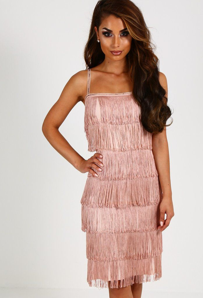Pink Boutique Pink Fringed Flapper Dress (£35)  f85ad677de
