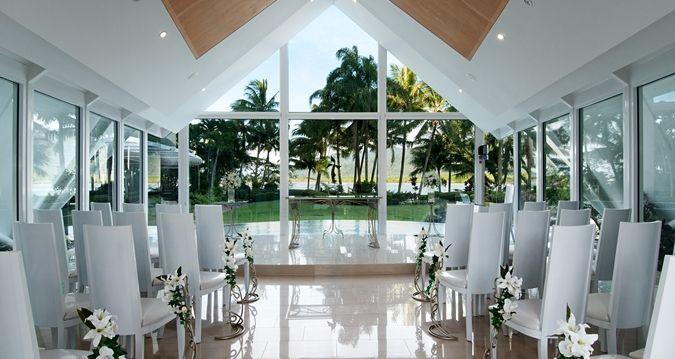 Hilton Cairns Indoor Wedding Setting