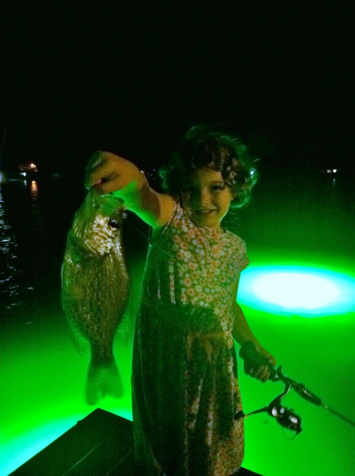 Hydro glow underwater dock lights and your granddaughter for Underwater led fishing lights