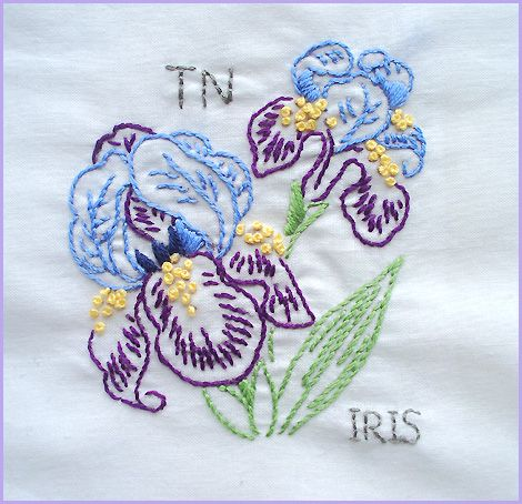 Tennessee Iris Diy Embroidery Designs Needlework Patterns Embroidery Patterns