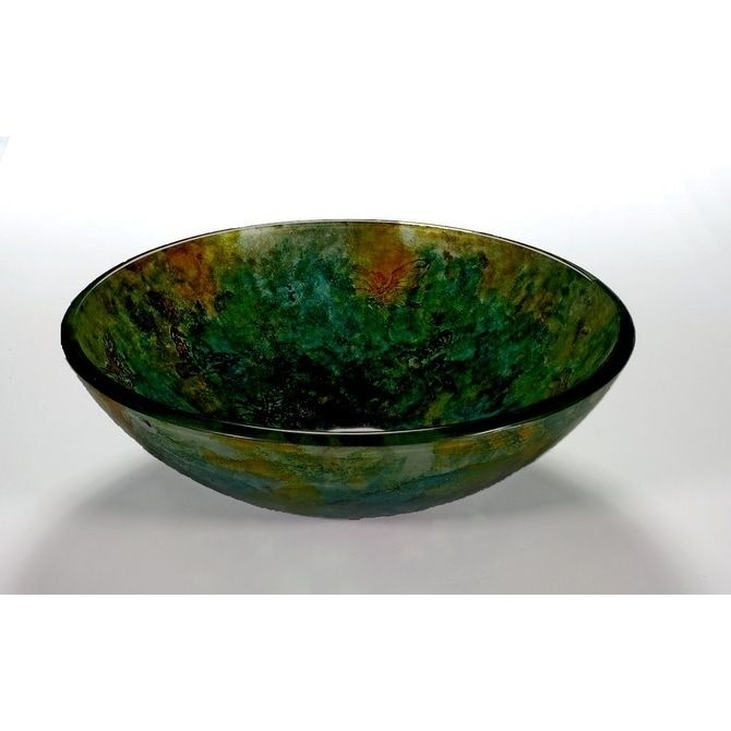 Green Glass Sink Bowl 1 2 Thick Round Tempered Glass Legion