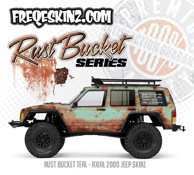 Freqeskinz Rust Bucket Series Axial Scx10 Body Wraps