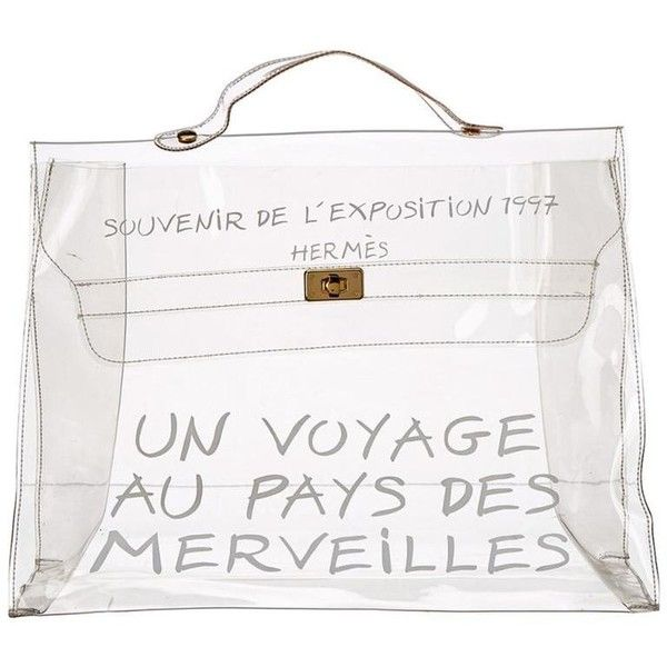 326a9c3db720 Hermès Transparent Vinyl Clear Kelly Souvenir De L exposition 1997 ...