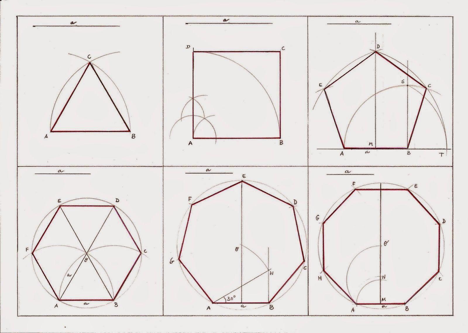 Pintar Crear Pensar Polígonos Regulares Dibujos De Geometria Arte De Geometría Polígono Regular
