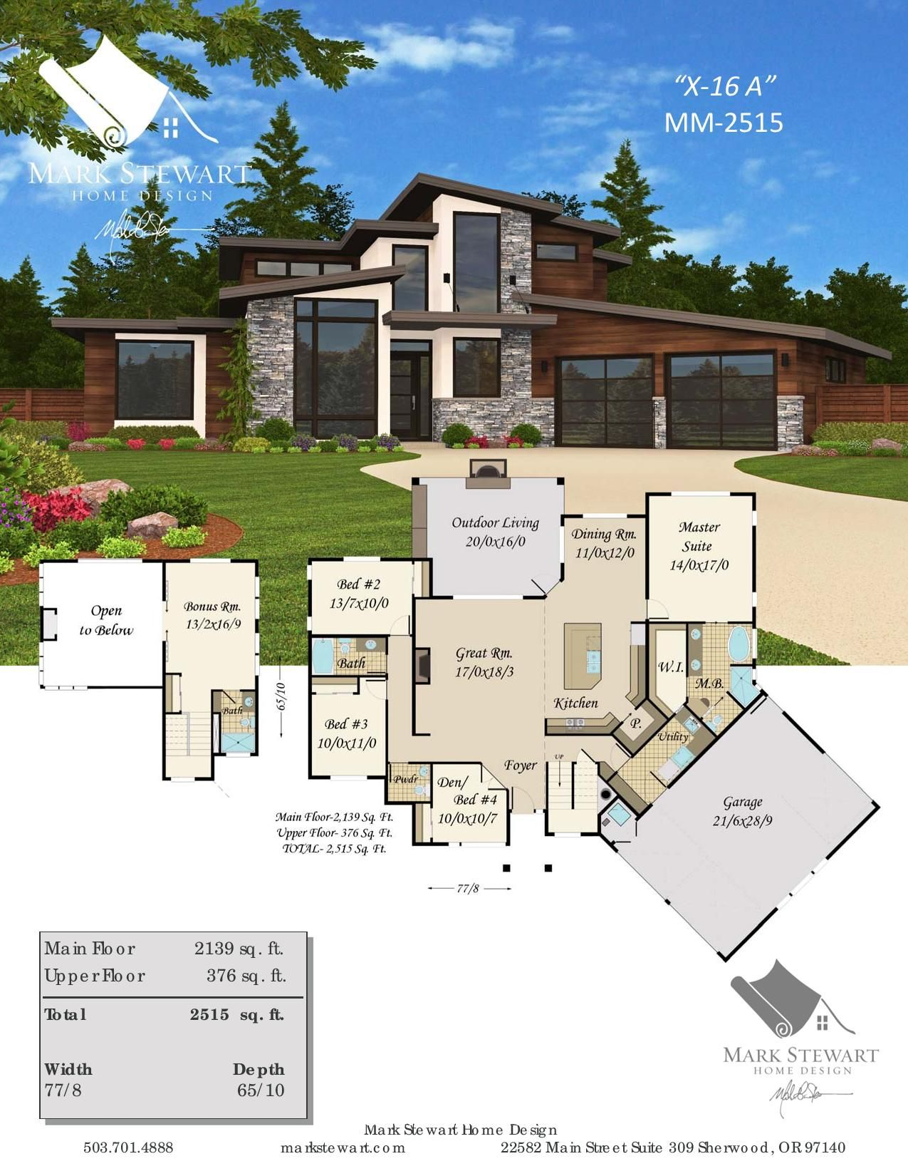 House Plan Sting X 16a Modern Masterpiece House Plan Modern Style House Plans Sims House Plans Contemporary House Plans