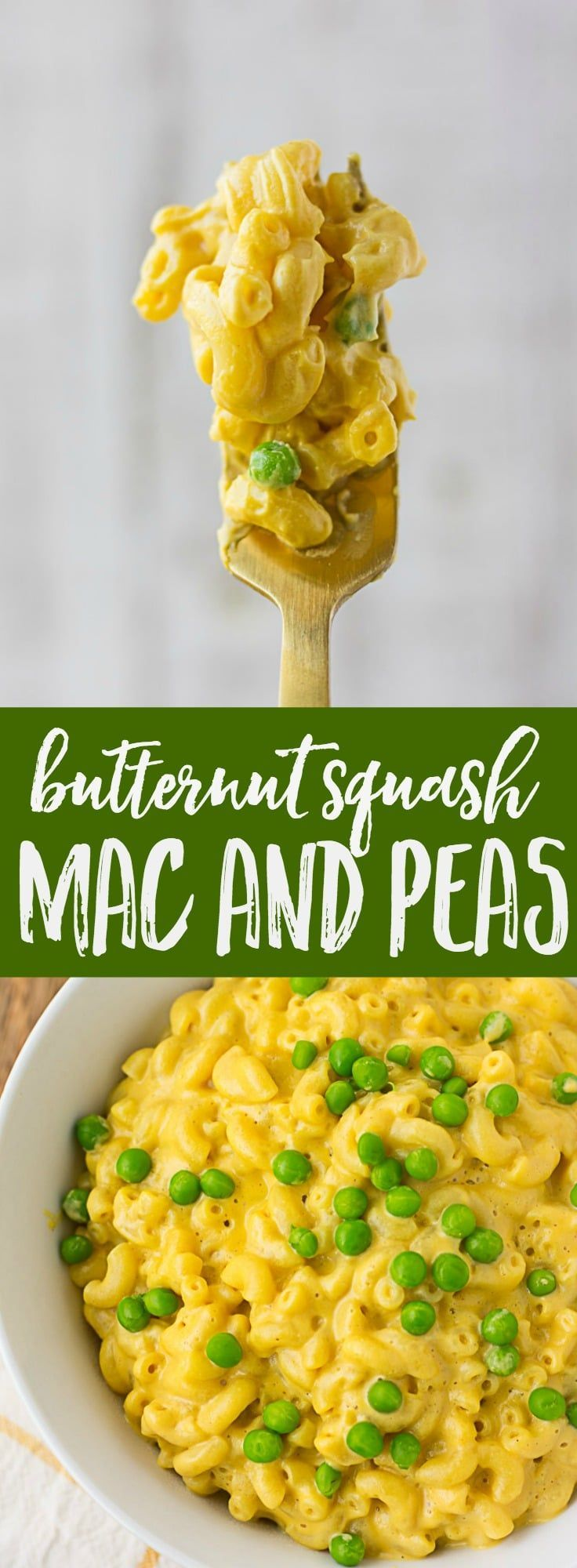 Vegan Butternut Squash Mac And Cheese With Peas Nora Cooks Oil Free Gluten Free Option Butternut Squash Mac And Cheese Vegan Pasta Recipes Recipes