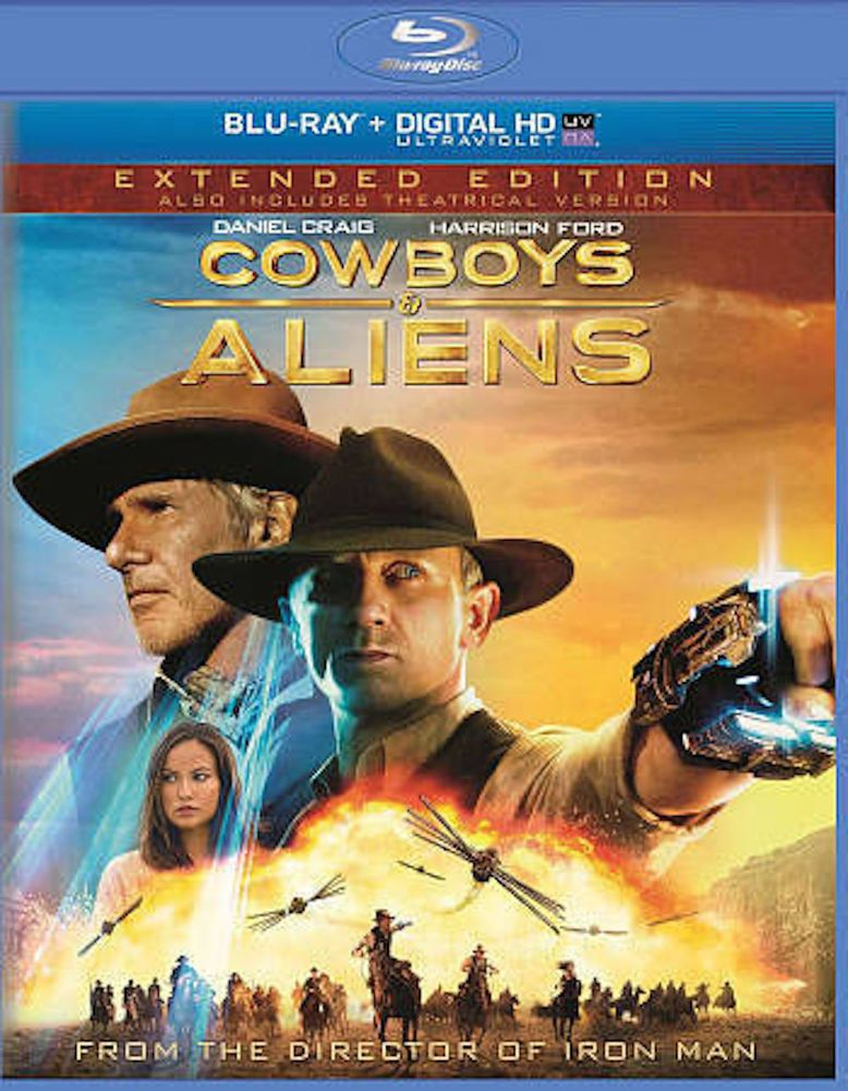 Blu Ray Cowboys Aliens Harrison Ford Extended Theatrical Edition Cowboys Aliens Aliens Movie Cowboys