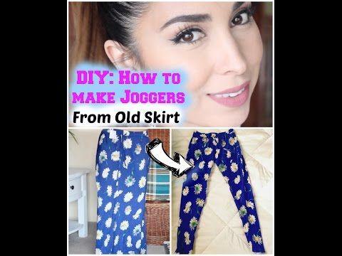 DIY how to make Jogger Pants Tutorial - YouTube