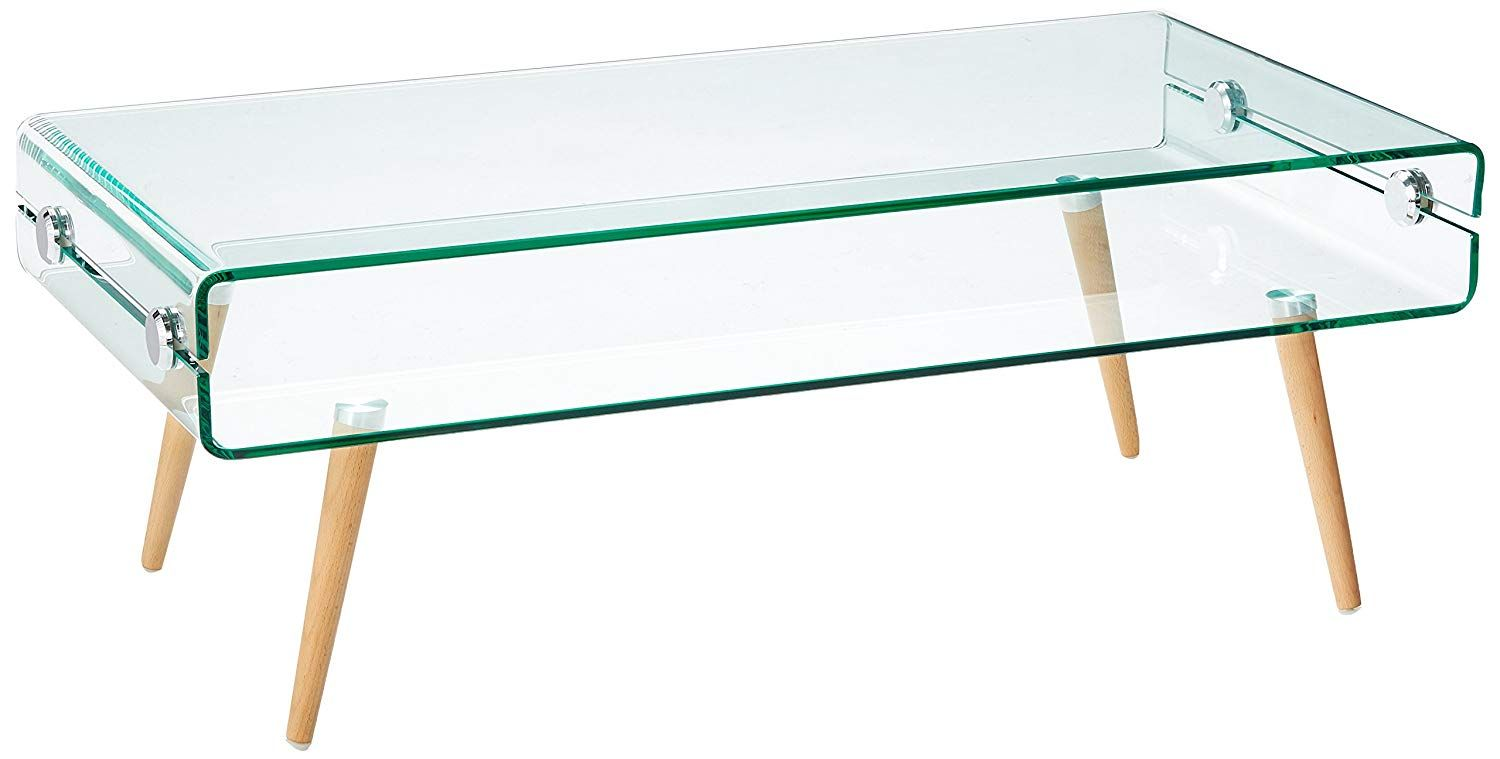 Amazonsmile Versanora Vnf 00027 Cassetto Stylish Beautiful Industrial Modern Glass Coffee Table Clear Kitch Modern Industrial Modern End Tables Coffee Table [ 759 x 1500 Pixel ]