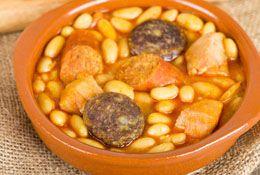 Spanish beans with black pudding and chorizo