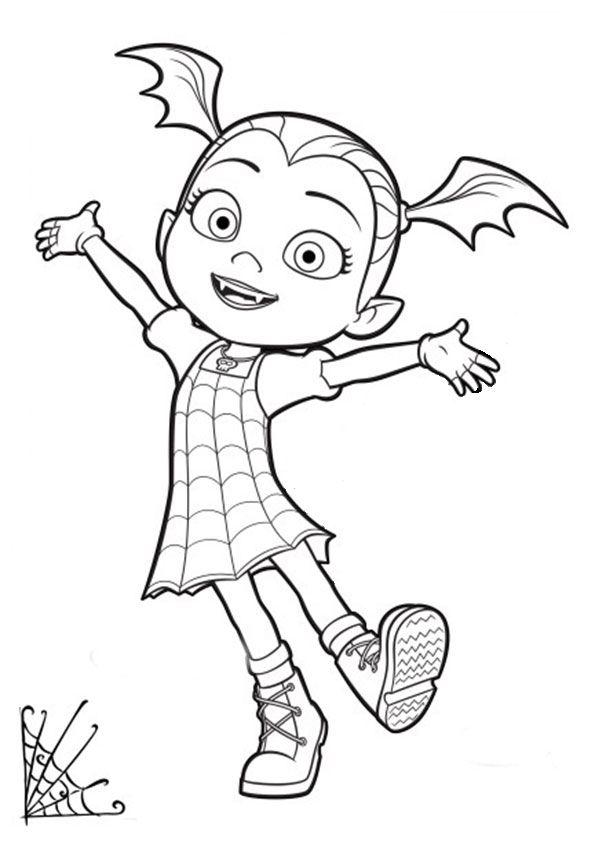 ausmalbilder disney vampirina