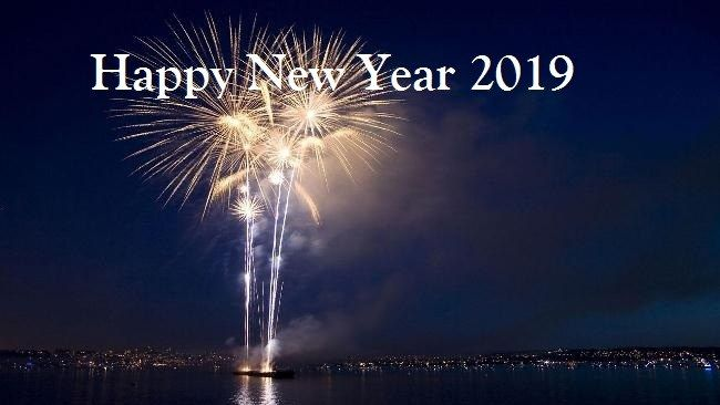 Happy New Year Eve 2019 Wallpapers Happy New Year 2019 Wishes Happy New Year 2019 Status Hap Fireworks Wallpaper Happy New Year Wallpaper New Year Wallpaper