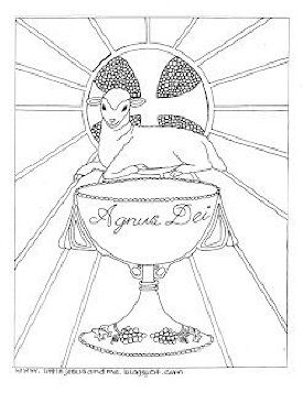 Lamb of God Coloring Page | Catholic Crafts & Coloring | Pinterest ...