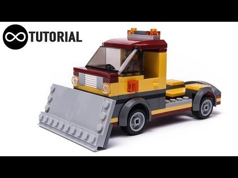 LEGO Tutorial video for custom City Snow Plow truck #Legocity ...