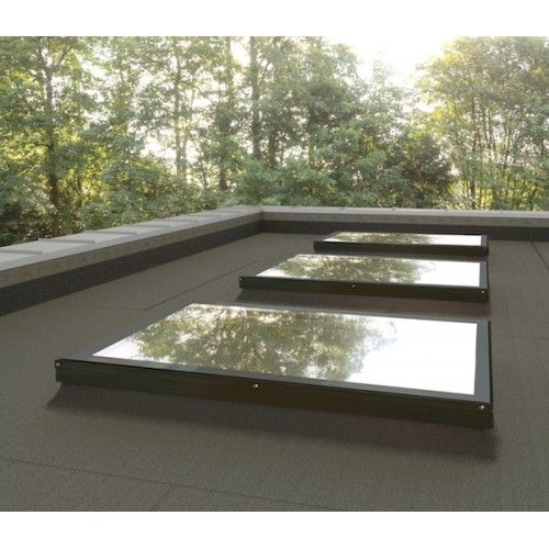 Skylights For Garage: Sunlux 100cm X 150cm Flat Roof Window & Kerb Fixed Double