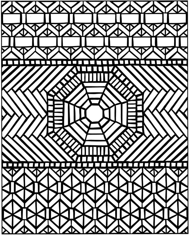 coloring pages geometric staind glass - photo#8
