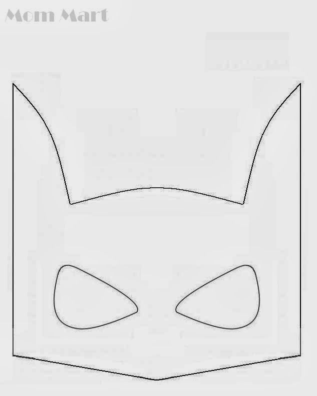 Best Photos Of Batman Mask Template  Batman Superhero Mask