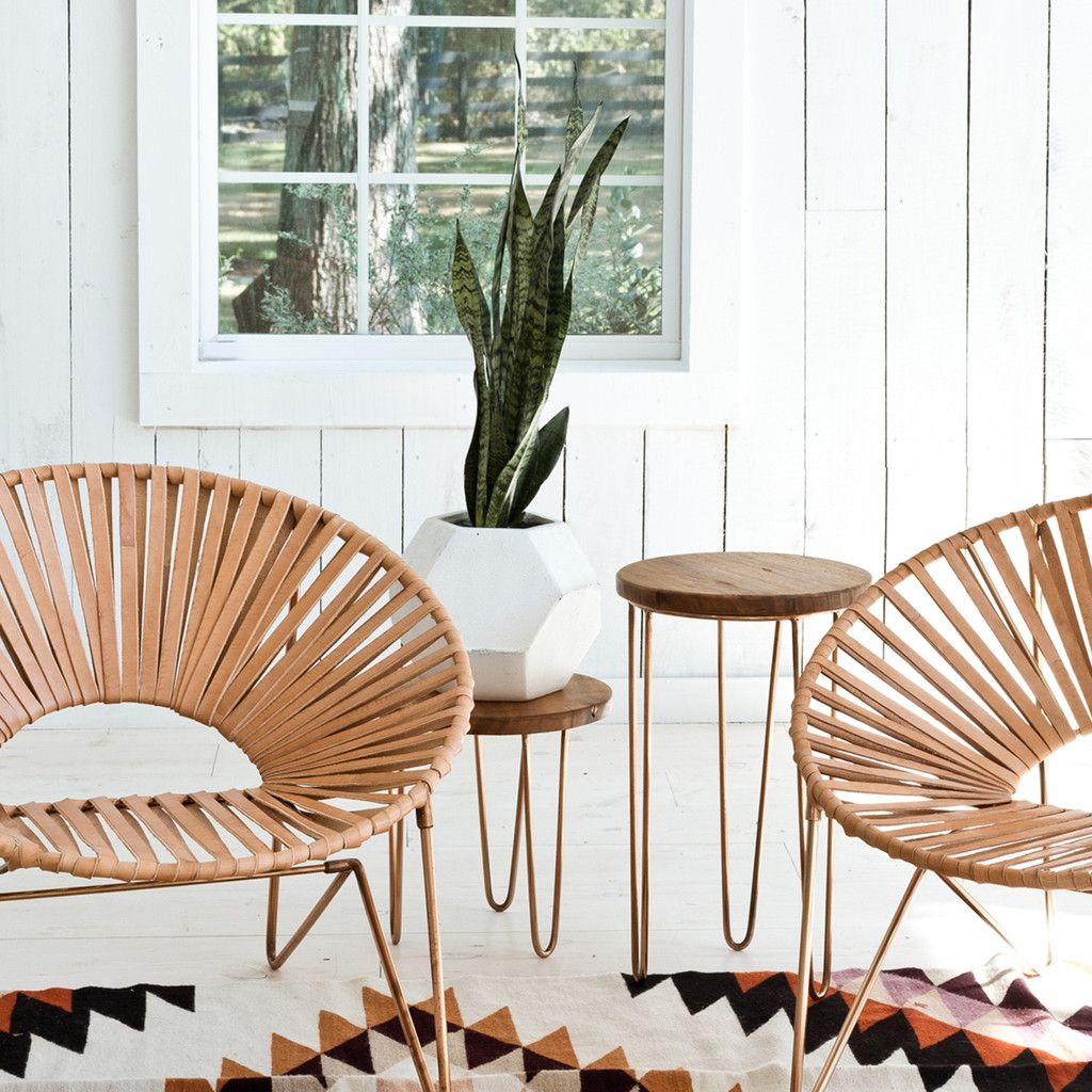 Aldama Side Tables - Copper   Sillas, Sillas decorativas y Terrasas