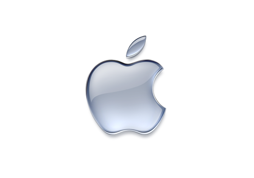 The Apple logo is really stylish and elegant, it stands out