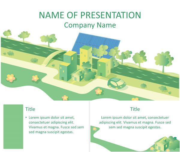 Solar Energy Illustration Powerpoint Template Temas Ppt