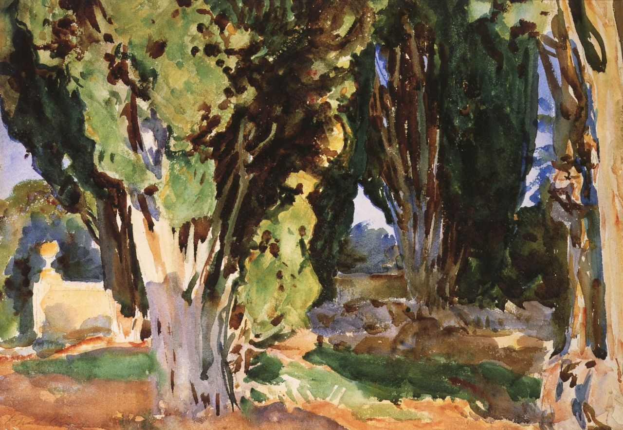 The Athenaeum - Villa Falconieri (John Singer Sargent - )